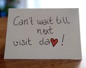 "Card ""Can't wait till next visit"" / Love Card / Prison"
