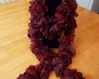 Handmade Ruffle Scarf with Sequins
