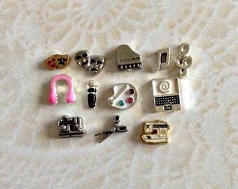 Hobbies floating charms for memory lockets