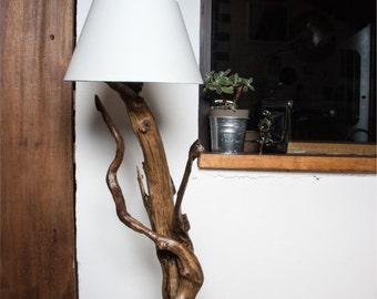 Natural wood lamp