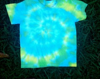 2/3T turquoise/yellow Tie-DyeFor