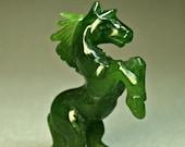 VINTAGE JADE HORSE Carving SIberian Nephrite 1970s C1