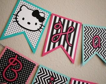 Hello Kitty Banner - Hello Kitty Decorations - Hello Kitty Party