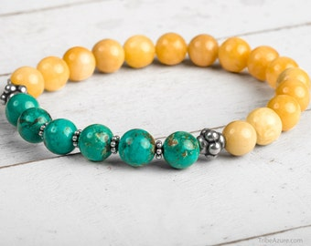 Power Bracelet, Yellow Jade Bracelet, Energy Bracelet, Intention Bracelet, Yoga Jewelry, Zen Jewelry