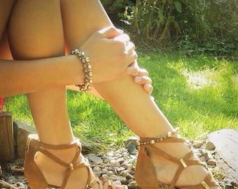 Golden Faux Pearl Bracelet/Anklet