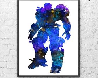 Transformer Art,Transformer Watercolor,Home Decor, Wall Decor,Transformer Watercolor Art Print, Kids Room decor