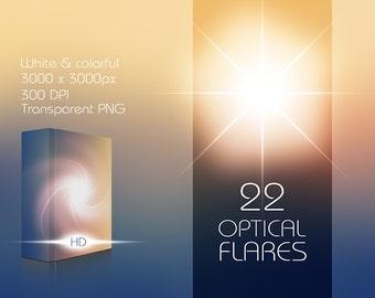 22 Hi-Res Optical Flares