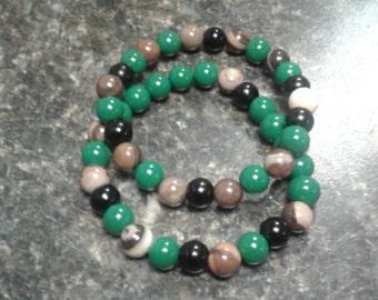 Zebra Jade Stone Bracelets