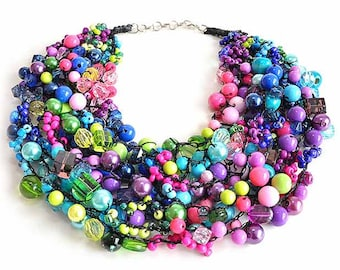 kama4you 2231 crochet bib necklace