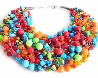 kama4you 2330 crochet bib necklace
