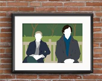 Sherlock Poster - Sherlock and Watson Print