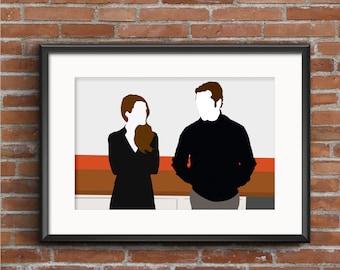 The Americans Poster - Elizabeth & Phillip Jennings Poster - The Americans Print - Cold War Poster - Spy Poster - TV Poster - Geek Gift