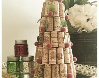 Wine Cork Tree with Berries