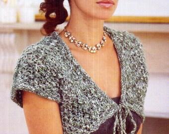 PATONS 'Lacy-Racy' Bolero Knitting Pattern Pretty lookx