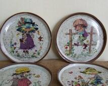4 wall platter / children plates Gottschlich 70s