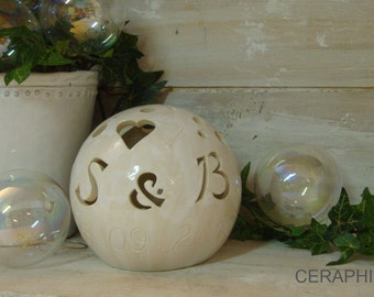 Wedding lamp with tealight wedding lamp ceramic