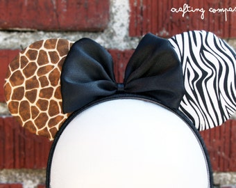 Safari Minnie Mouse and Mickey Mouse Inspired Costume Ears