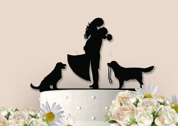 etsy wedding cake topper dog with dogs cake topper 14051