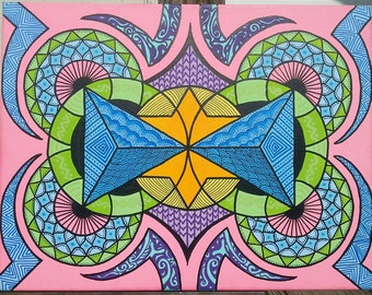 Sacred Geometry Painting geometric art