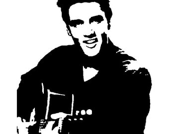 Elvis SVG File Cutting Template - Clip Art for Commercial and Personal Use