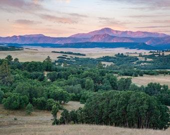 Pikes Peak Alpenglow - Colorado Photography