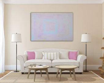 Large Acrylic Abstract Painting On Canvas,pink large wall art, Original Paintings on Canvas by Einat Hatzamri Shavit