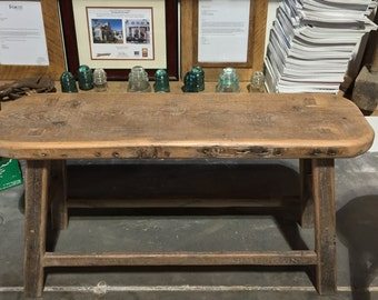 Reclaimed Barn Wood Oak Bench