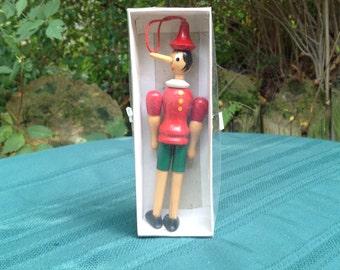 Pinocchio Wooden Christmas Ornament