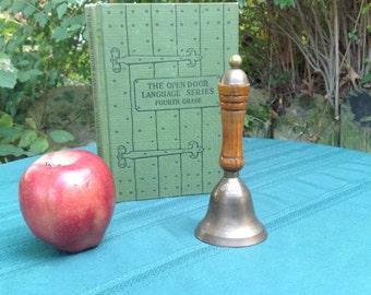 Antique Brass Bell Rustic Decor Handhald School