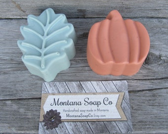 Pumpkin and leaf fall soap shea butter soap