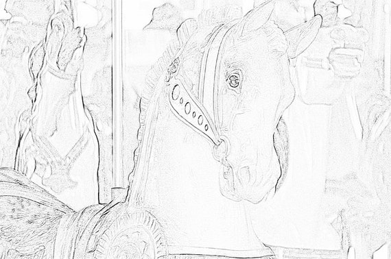 Carousel Horses Coloring Pages 1 Adult Coloring By Tracrs