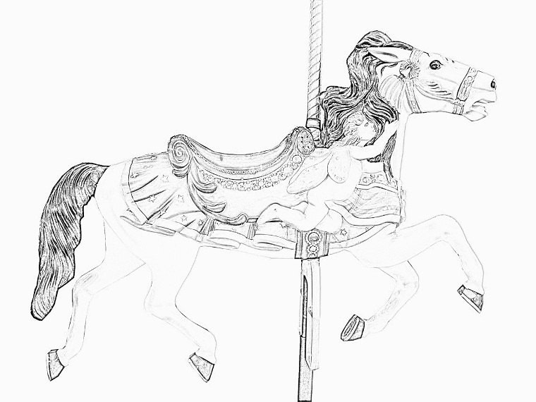 Carousel Horses Coloring Pages 5 Coloring Art Therapy By