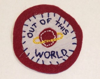 Out of this world felt patch