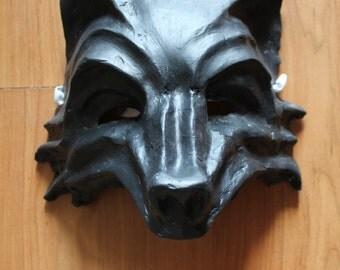 Wolf Mask | Paper Mache Mask | Costume