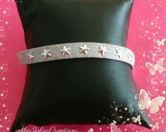 Grey suede strap
