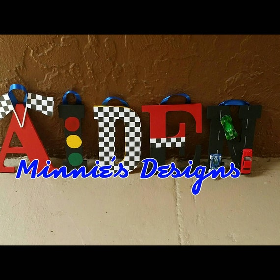 Race Car Themed Name Decor Race Car Decorationsdisney Cars
