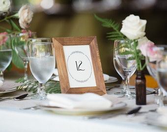 Wedding Table Numbers//Downloadable PDF