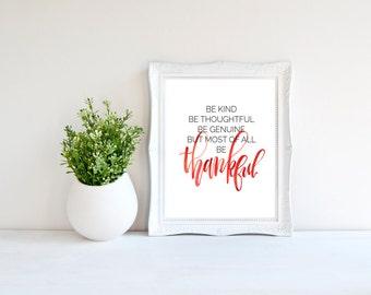 Be Thankful Print