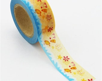 Washi Tape, Beach Pattern, 20mm x 10m