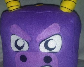 Spyro block plush