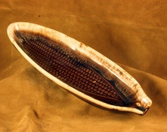 Brown Drip Corn Dishes (Set of 6) McCoy 7613 - Vintage Corn Serving Dishes - Pottery Corn Dish - R2015-07