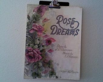 Rose Dreams Vintage Sheet Music
