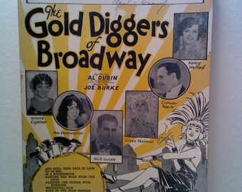 The Gold Diggers of Broadway Vintage Sheet Music