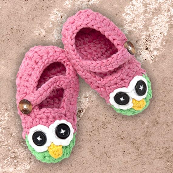 Free Crochet Patterns For Owl Slippers : Adorable Crochet Owl Slippers for Baby ~ Baby Slippers ...