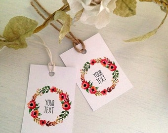 12 Custom Gift Tags - Your Choice of Text