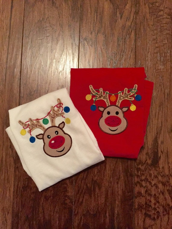 Reindeer shirt with chrismas lights