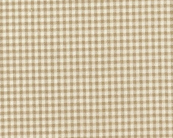 Shower Curtain Linen Beige Gingham Check