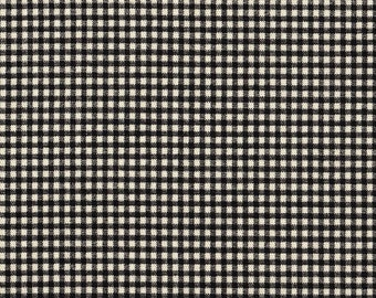 Rod-Pocket Curtain Panels Black Gingham Check