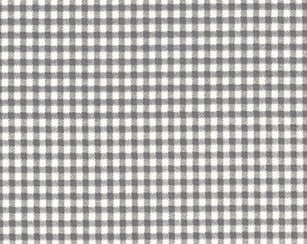Tailored Valance Brindle Gray Gingham Check