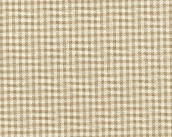 Decorative Pillow Linen Beige Gingham Check